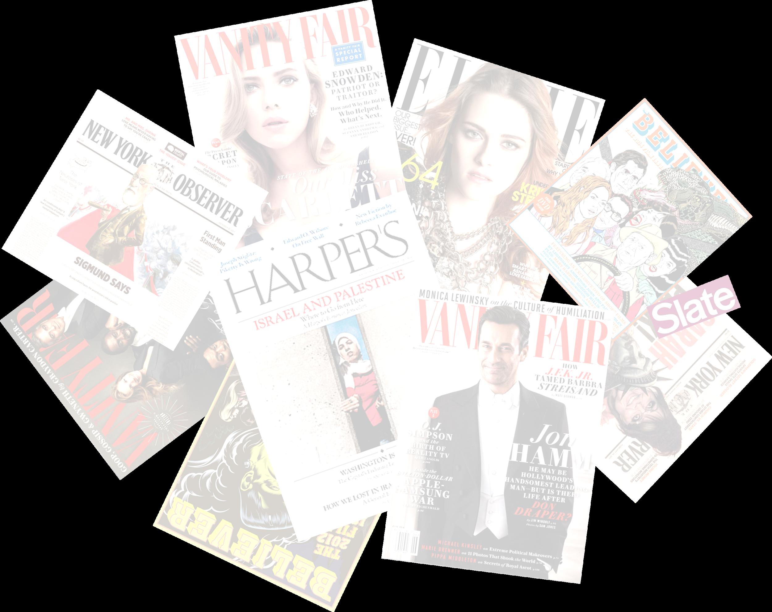 Lili Anolik Harper's Vanity Fair Believer New York Observer Slate Elle Graphic