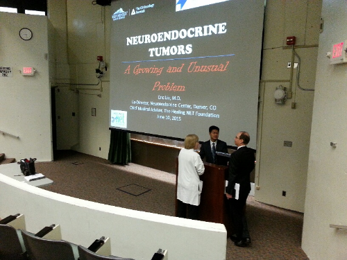 Dr. eric liu presenting on nets at albany medical center, CME division