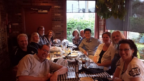 post-presentation dinner with carcinoid patients from many parts of new york
