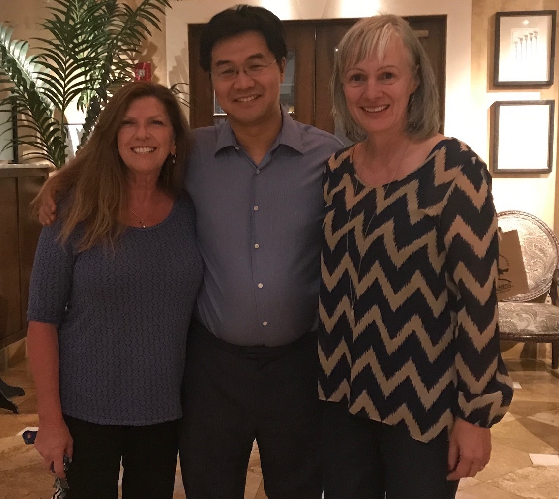 Gil Schaenzle, Eric Liu, and cindy lovelace at a planning session in colorado.