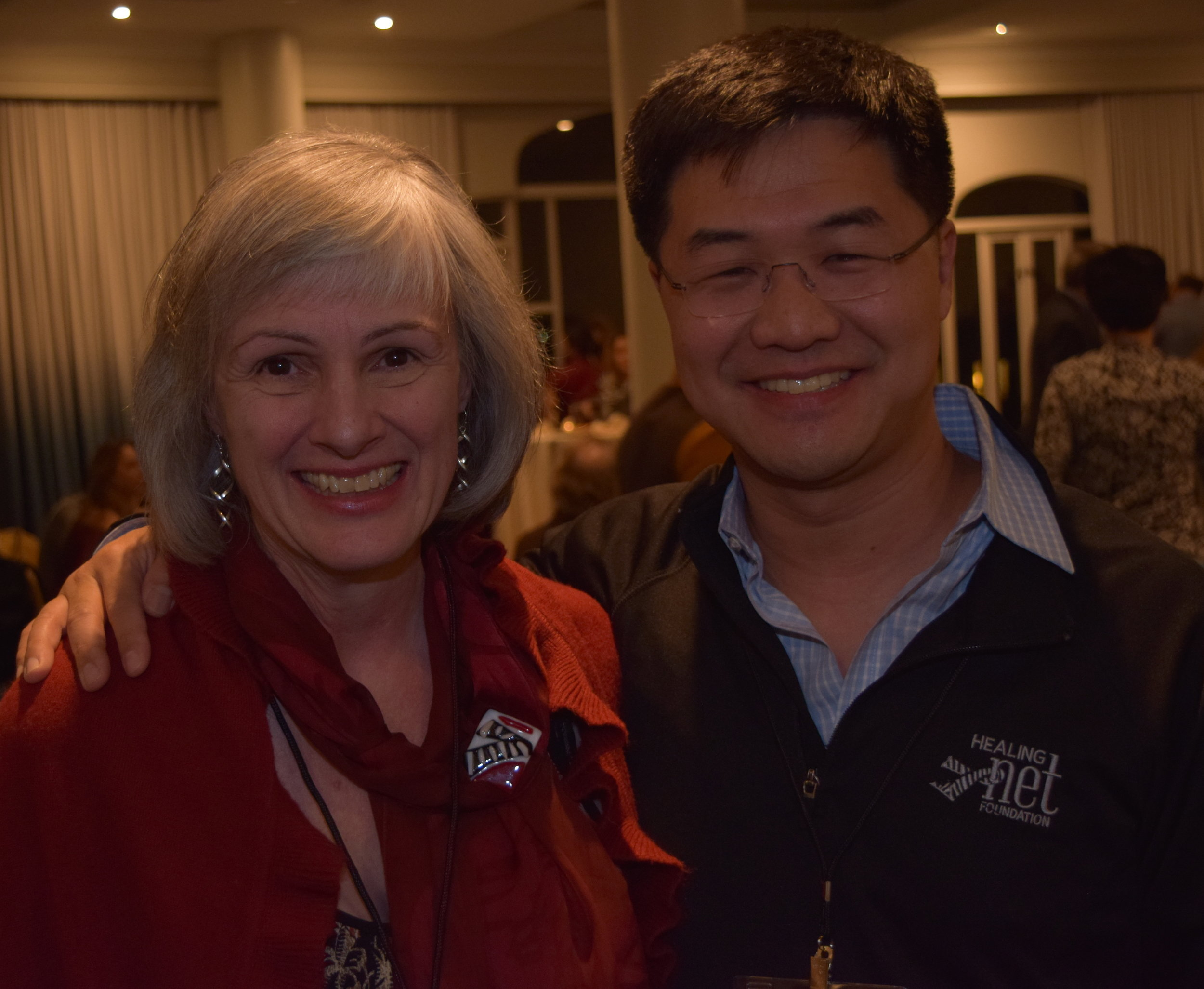 Cindy Lovelace and Eric Liu, Co-Founders Healing NET Foundation