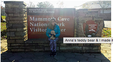 The Journey begins November 10, 2017 at Mammoth Cave National Park. Gil Schaenzle and Teddy begin what is the first of 51 Parks!