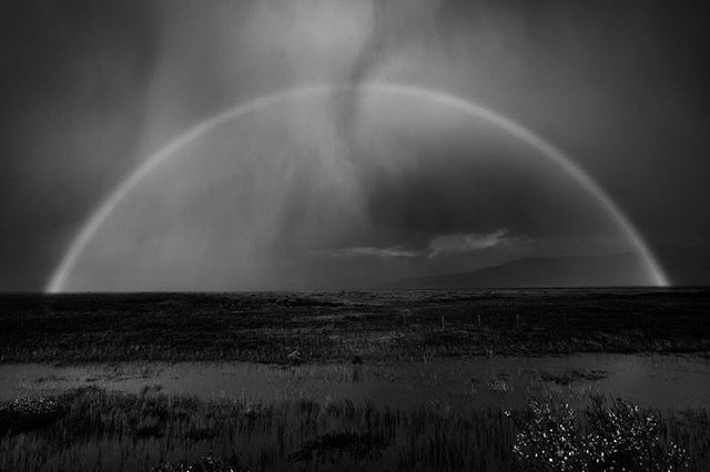 Graphic rainbow #rainbow #blackandwhite #iceland #aftertherain