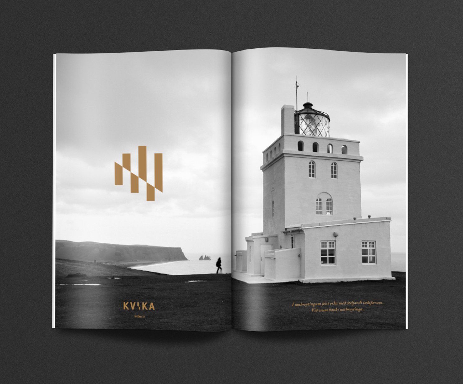 Kvika Investment bank - Branding / Interiour / Landscapes