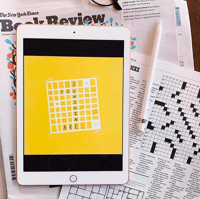 Happy Sunday from a very advanced crossword puzzle 🌞✨ #callitgolden