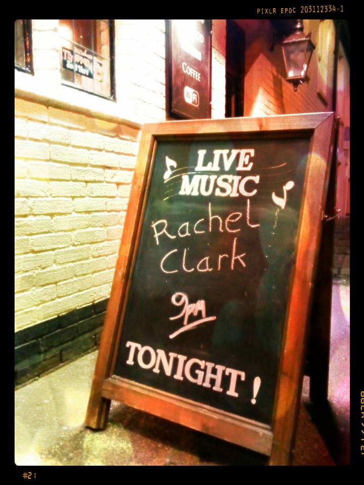 It's so cool seeing your name up there in chalk! One of the many welcoming details this fab music venue has going for it.