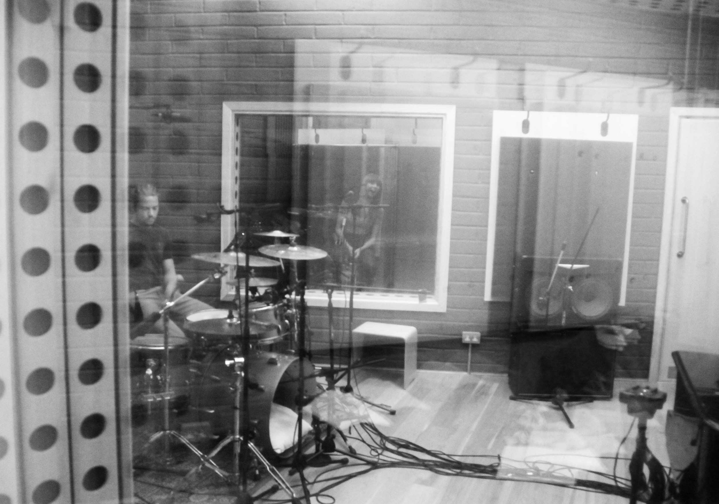 My brilliant session drummer Dave Cullen (from The Colour Movement) laying down drums for the new EP