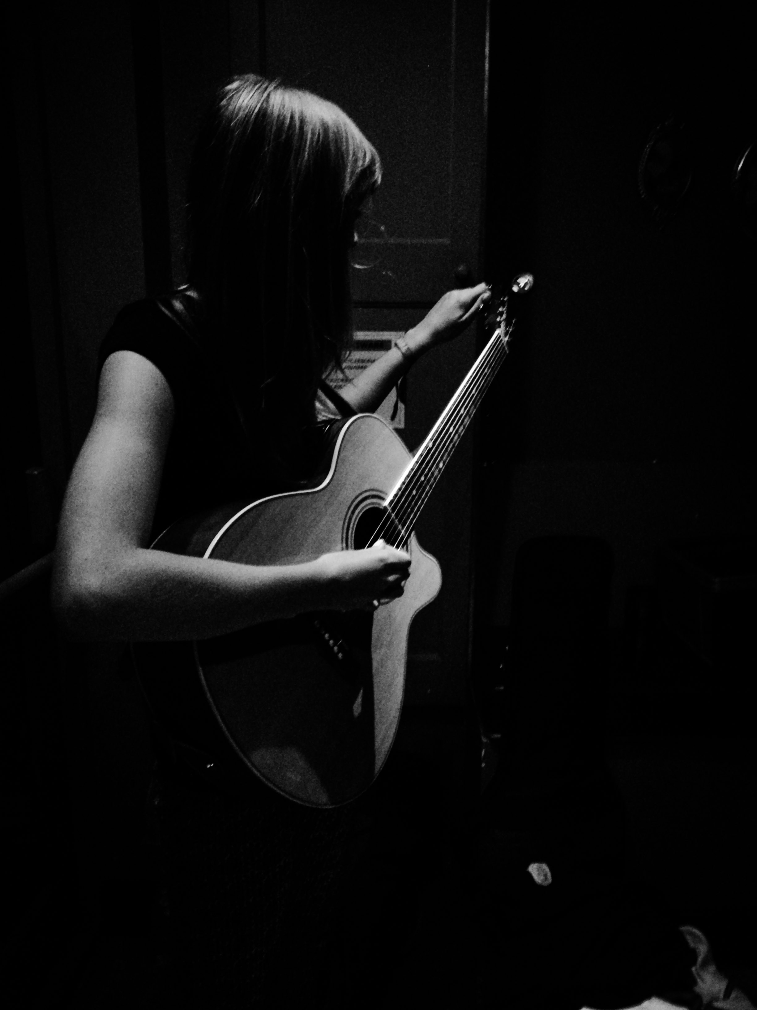 Backstage tuning up at The LP