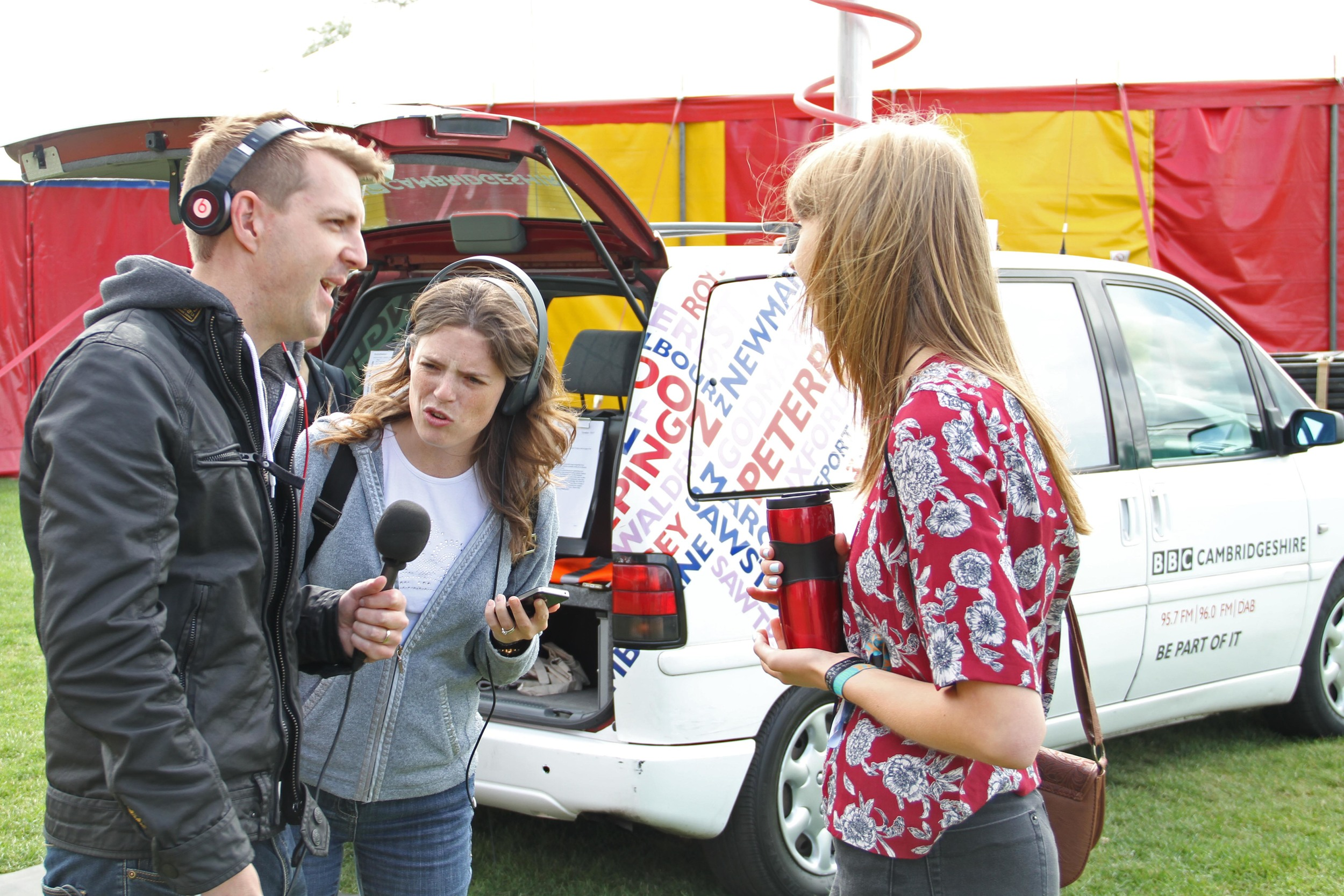 Rachel Clark - BBC Radio Cambridgeshire - Nick Carter - LodeStar 2014 - 4.JPG