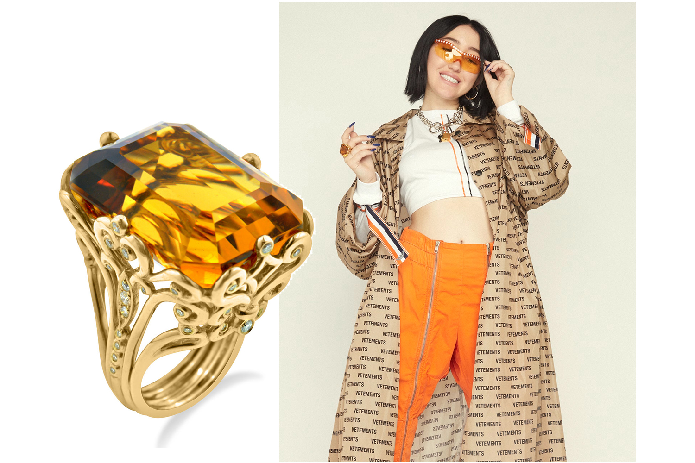 Noah Cyrus wearing Ricardo Basta Fine Jewelry for Cosmopolitan Magazine