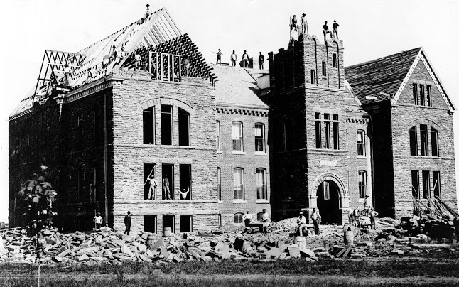 Old North- University of Central Oklahoma. First college level educational structure completed in Oklahoma. c. 1892