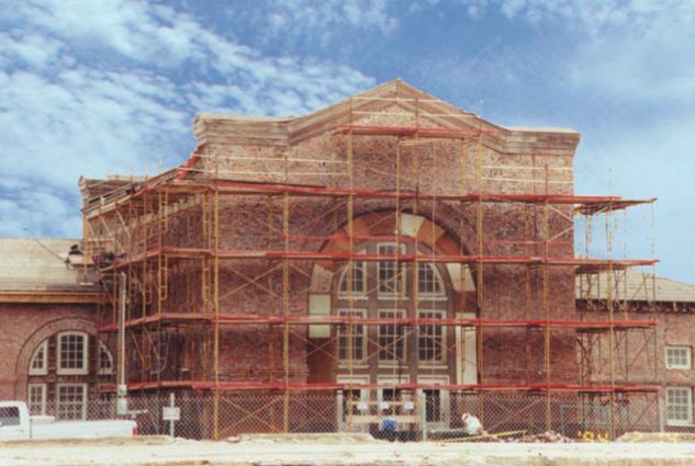 Rock Island Train Depot in Chickasha, Okla. while under restoration by CMSWillowbrook.