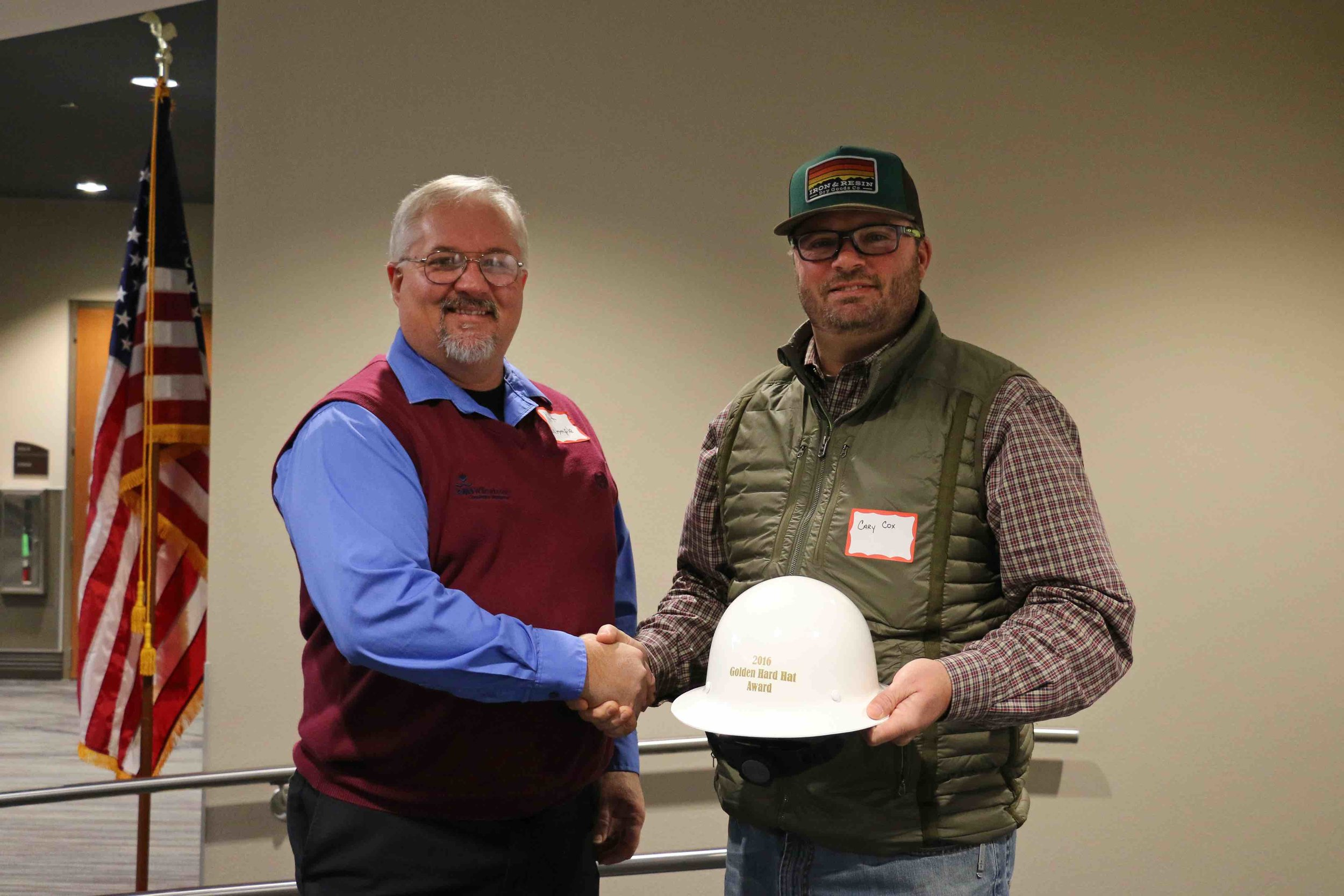 2016 Overall Golden Hard Hat Safety Award Winner, Cary Cox