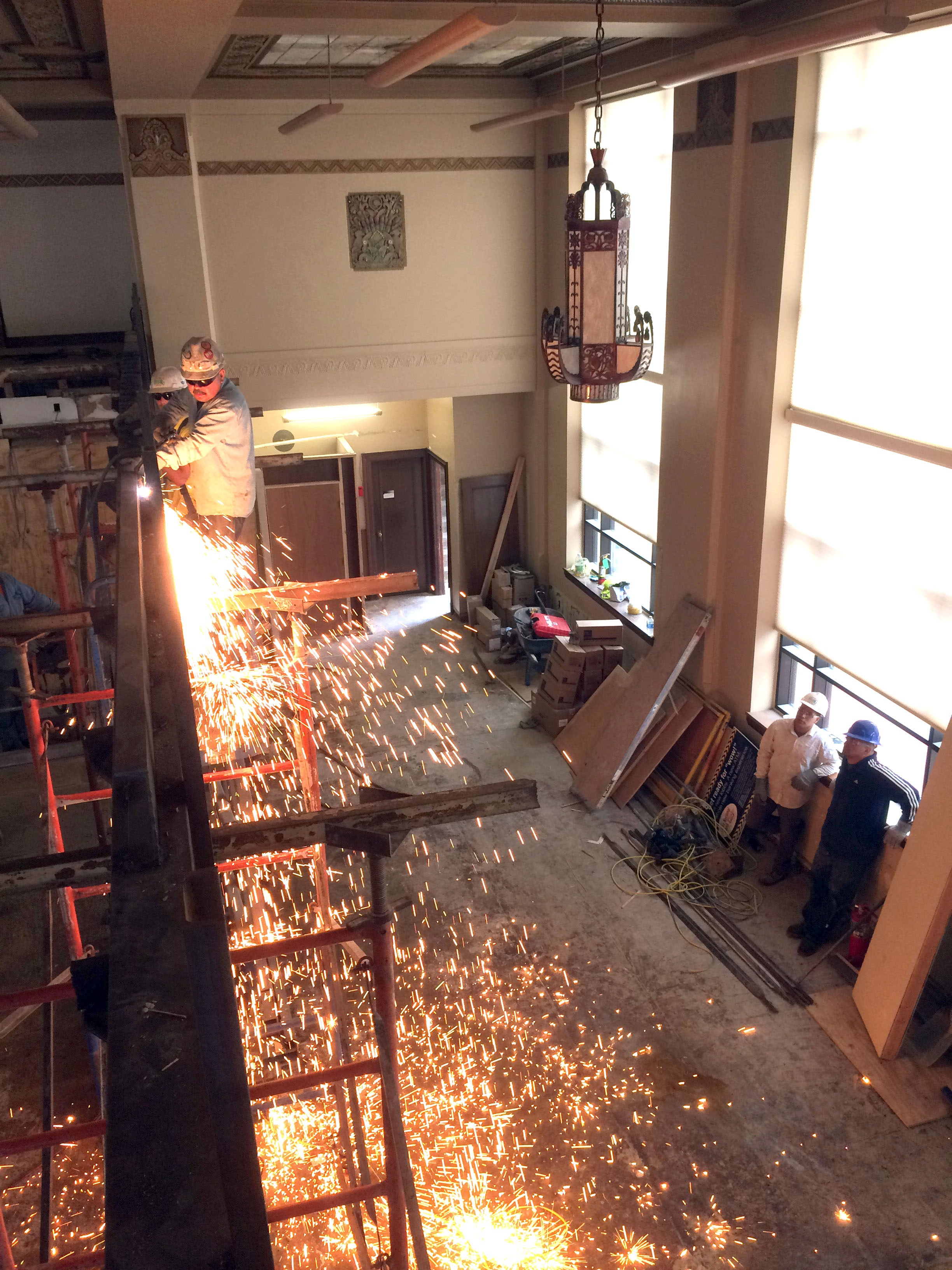 Torches cut foot bridge at FNBT during multi-phase design-build project.