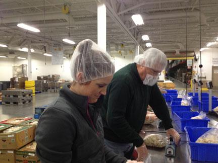 Volunteering at the Regional Food Bank of Oklahoma, 2016