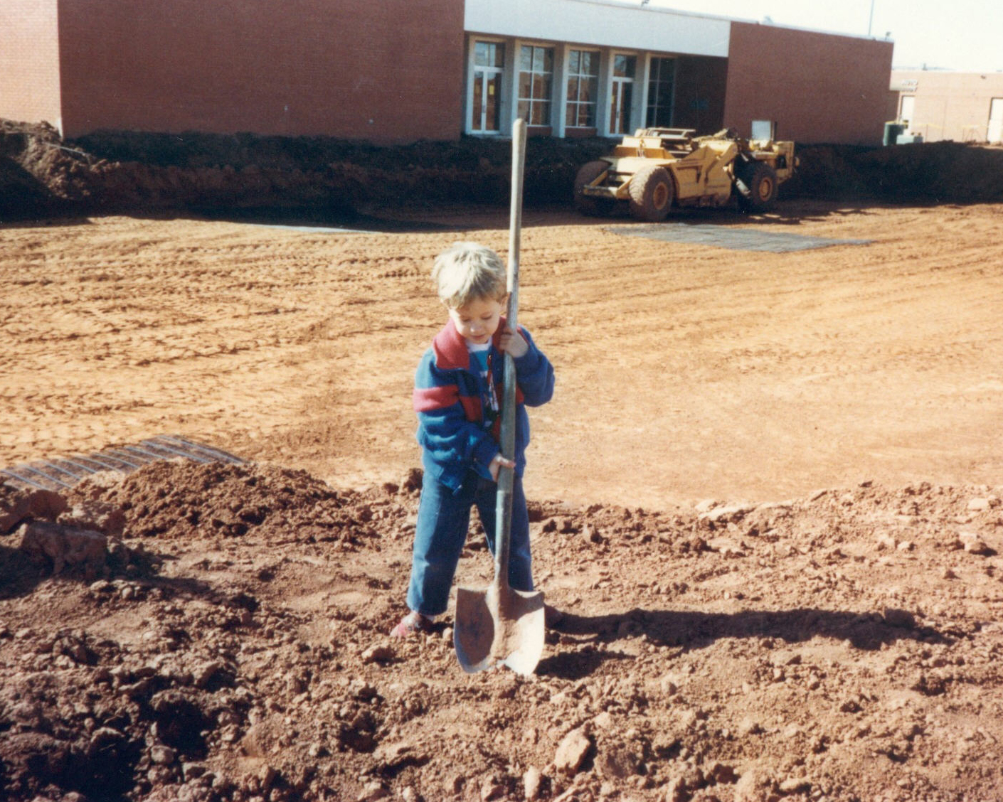 Weston digging on a job site