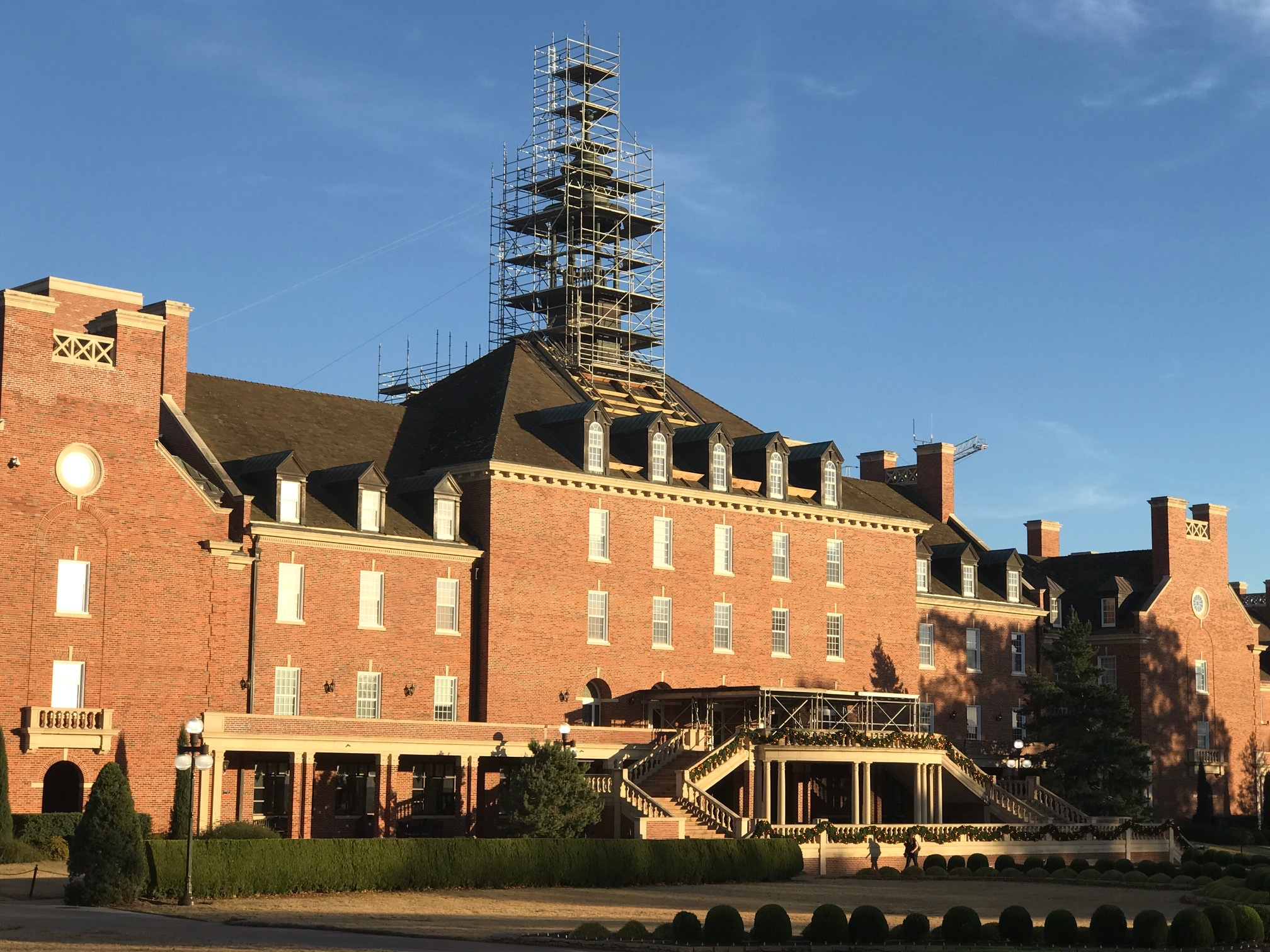 Student Union Tower with scaffolding from Cary 2.jpg