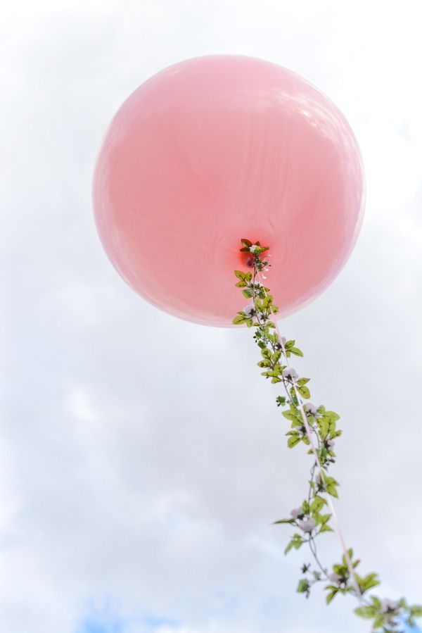 Add Floral Garlands To Balloons