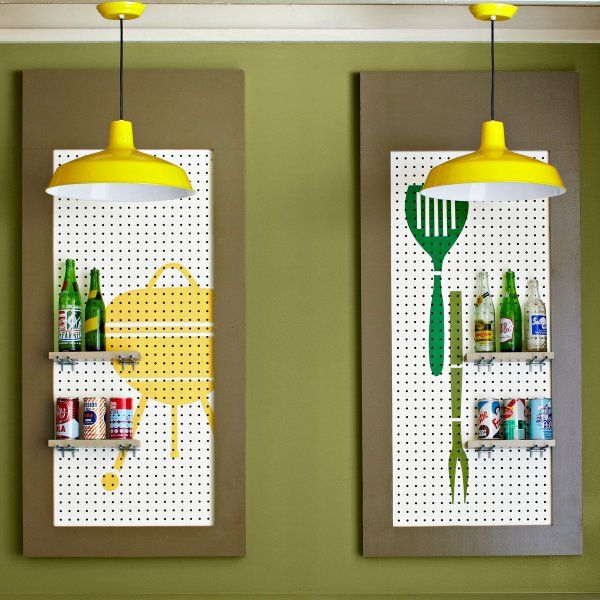 Decorate Pegboard With Bold Graphic Designs