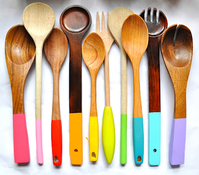 Paint Wooden Handles Vibrant Colors