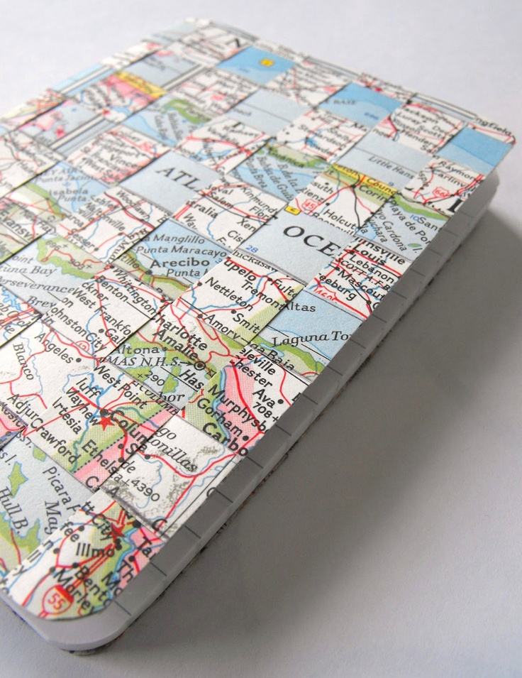 Make A Woven Map Journal For Spring Road Trips