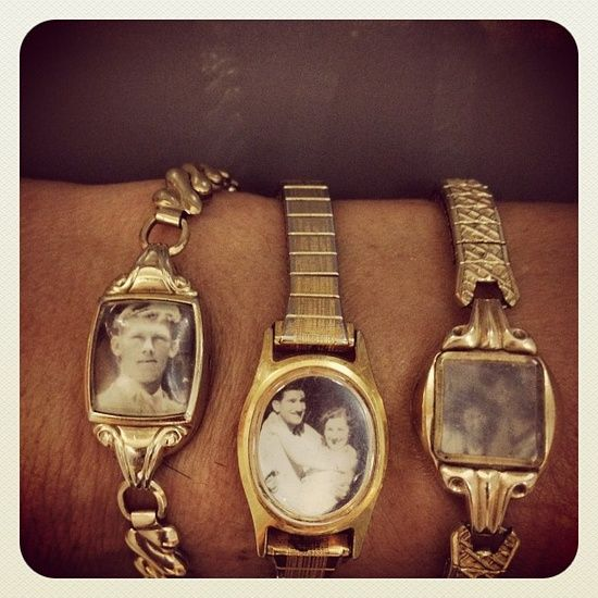 Add Old Photos Or Artwork To Old Broken Watches