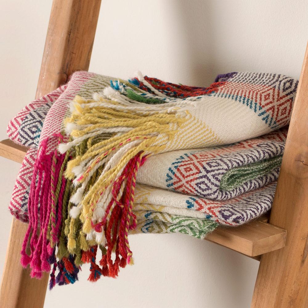 Peruvian Alpaca Wool Throw Blanket