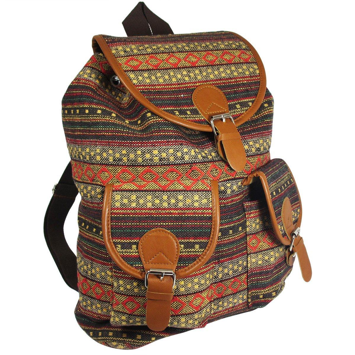 Oaxaca Tribal Design Bohemian Backpack