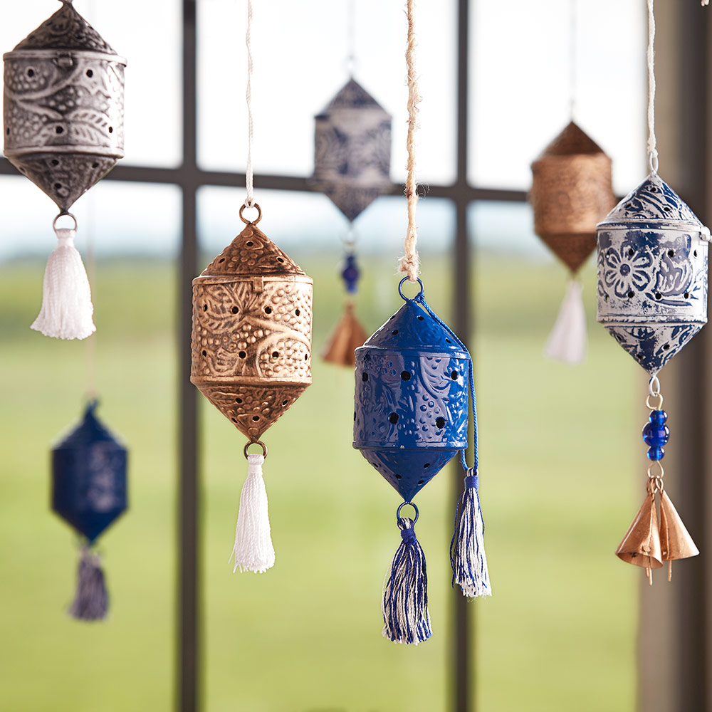 asseled Indian Lantern Ornament