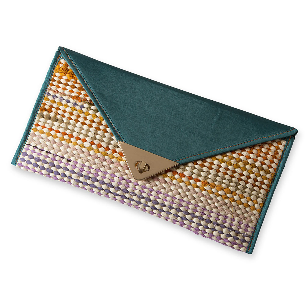 Recycled Woven Clutch