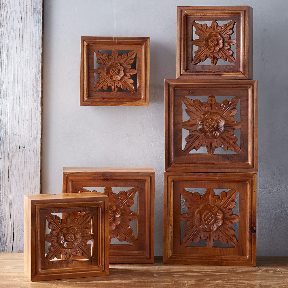 Handcarved Floral Wall Box