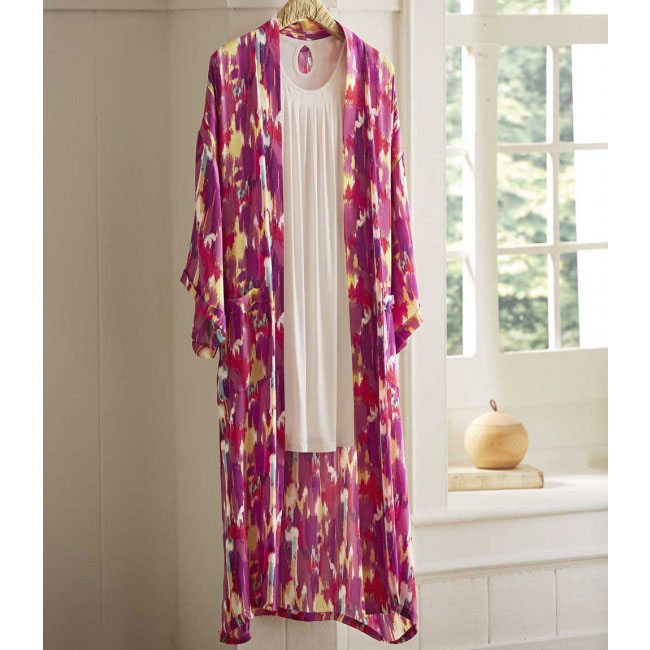 Natural Eco-Weave Pleated Nightgown - Medium