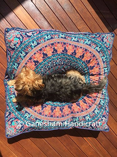 Ganesham Handicraft - Huge Mandala Tapestry Dog or Cat Bed