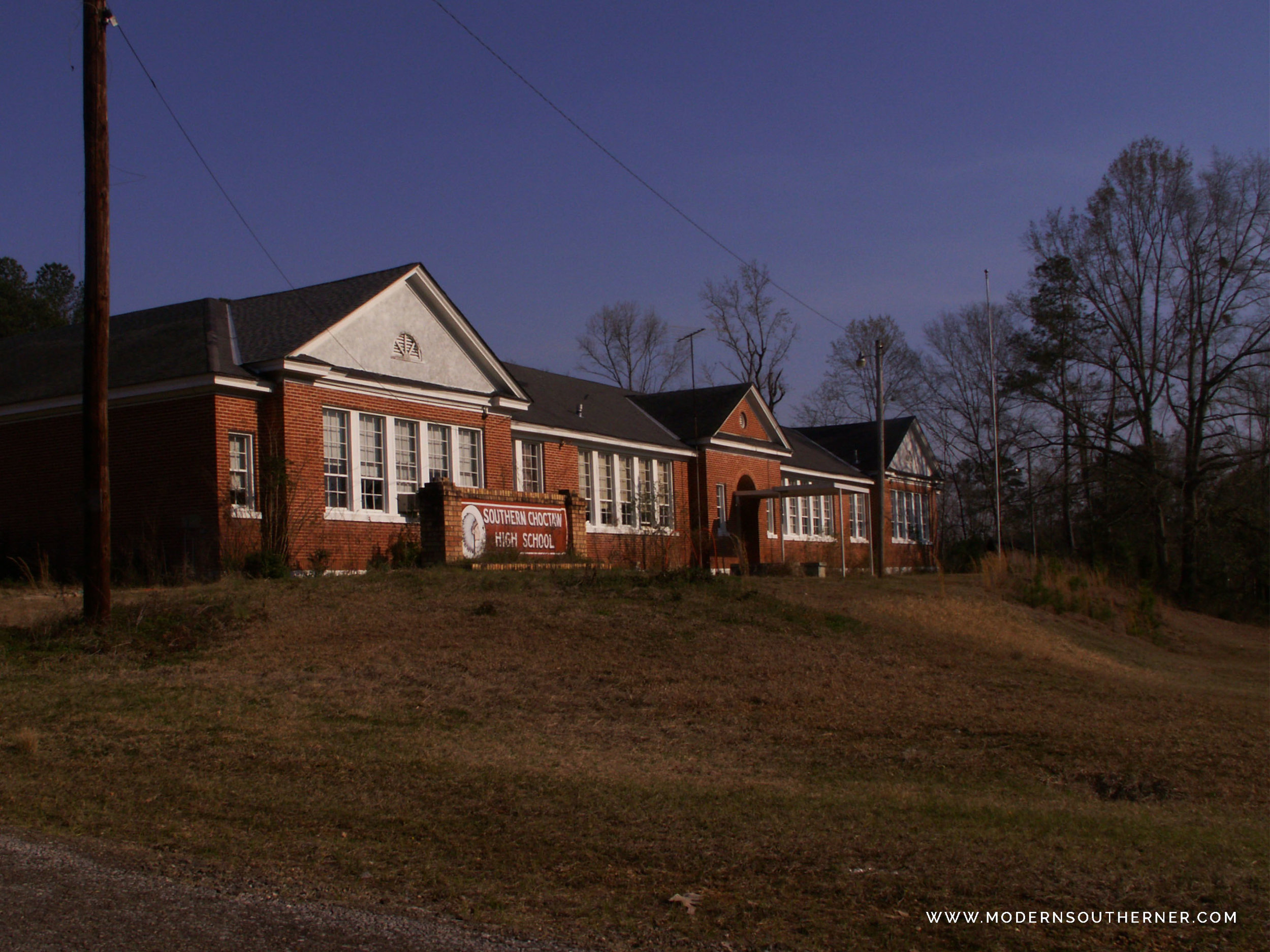 Abandoned Southern Choctaw High School in Alabama