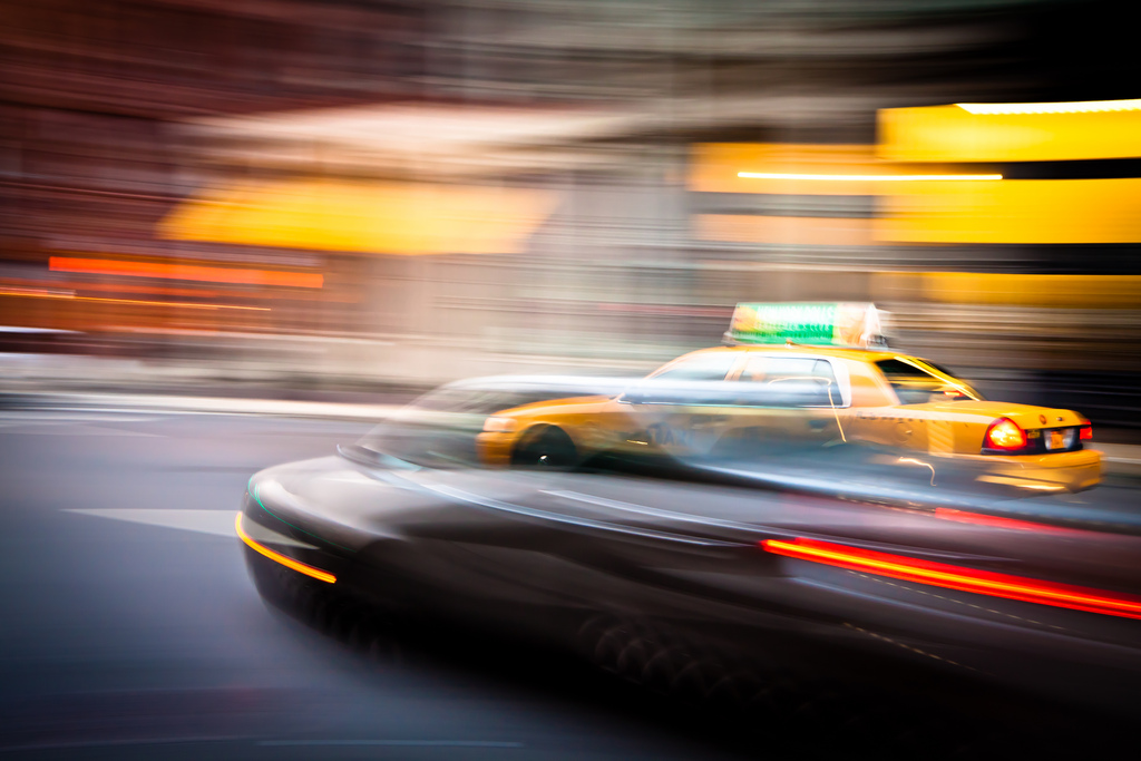 Look, that car is passing a taxi. Get it? (Image courtesy of Flickr user  Ohad .)