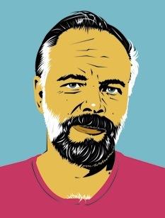 Drawn Portrait of Philip K. Dick  (2007) by  Pete Welsch .