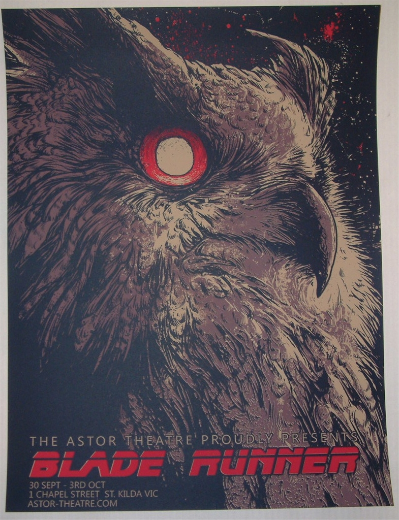 An alternate poster of the movie featuring the last owl on Earth (which is a robot because all birds are extinct).