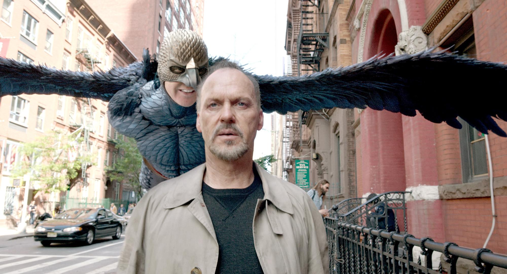 Michael Keaton stars as Riggan Thomson and Birdmanin  Birdman or (The Unexpected Virtue of Ignorance)  (2014). Image propertyof Fox Searchlight.