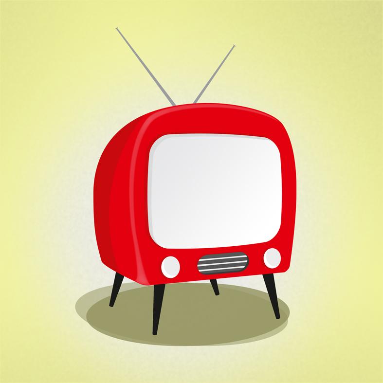 "Simpler times.  "" Retro TV   ""  — Digital illustration courtesy of artist Rafael Garcia ( fali1978 )."