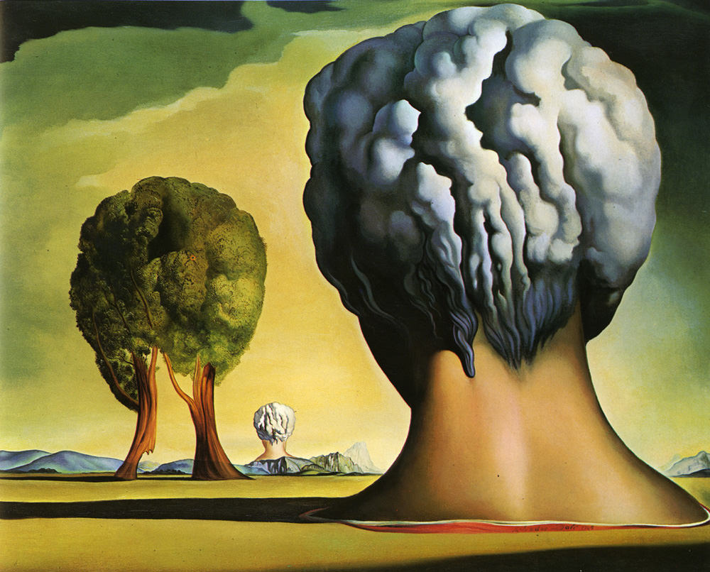 Three Sphinxes of Bikini   (1947) by Salvador Dali. Image property of  dalipaintings.net .