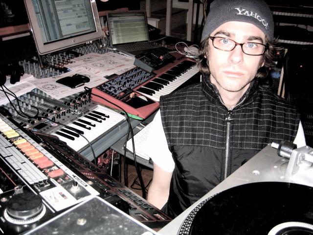 Self mastermind Matt Mahaffey in the studio, 2007. Image credit:  Wikimedia Commons .