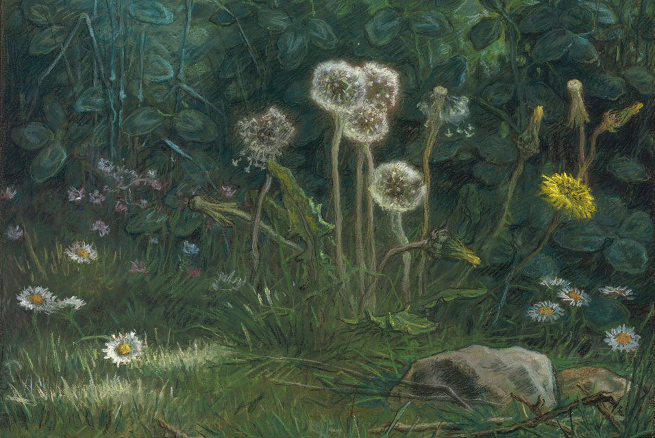 Dandelions   (1867–8) by Jean-François Millet. Courtesy of Wikimedia Commons.