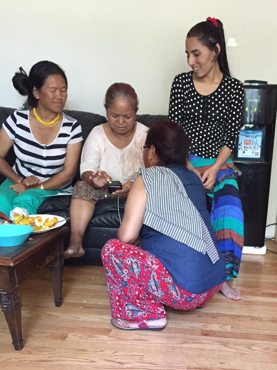 Chandra with fellow Loom artisans.