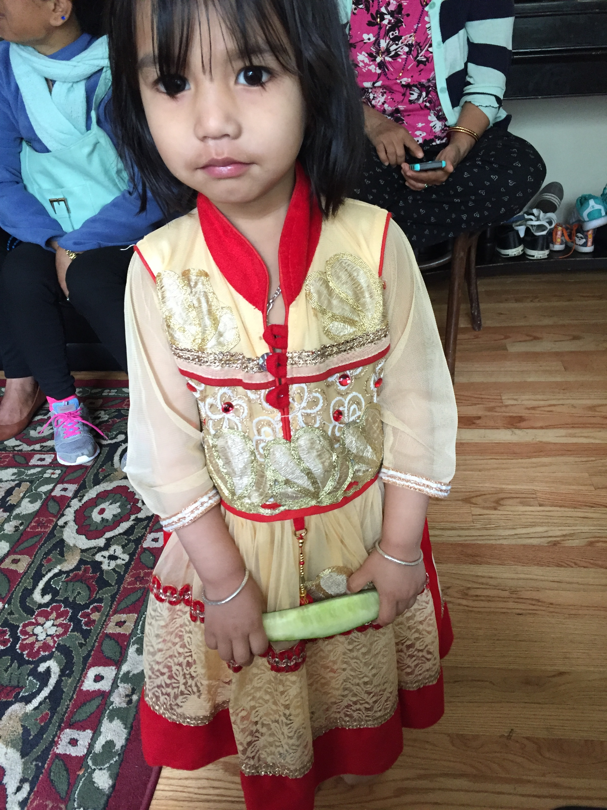 Chandra's daughter, Evangelina.