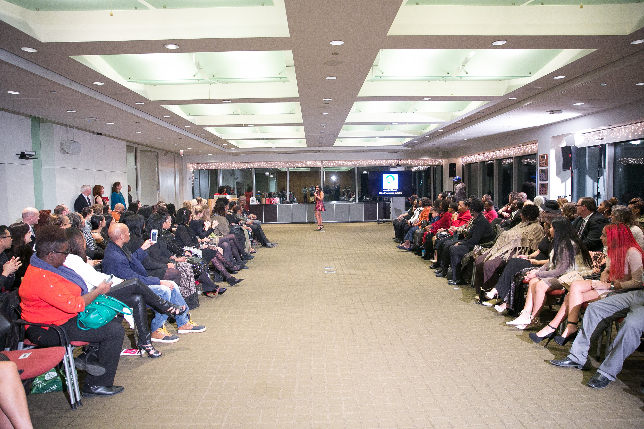 The full audience. Proceeds from tickets benefited Traffick Free.