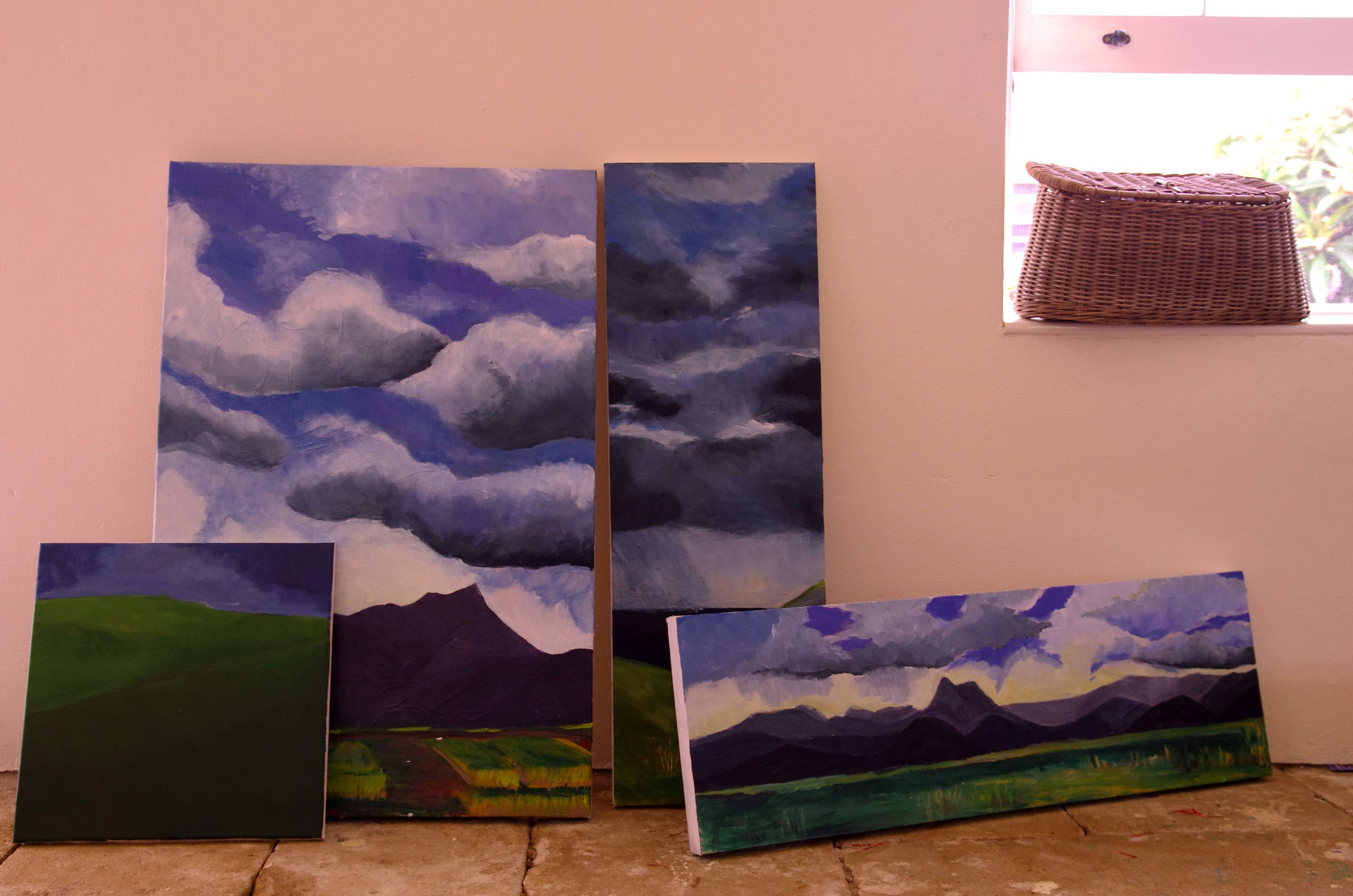Paintings in progress