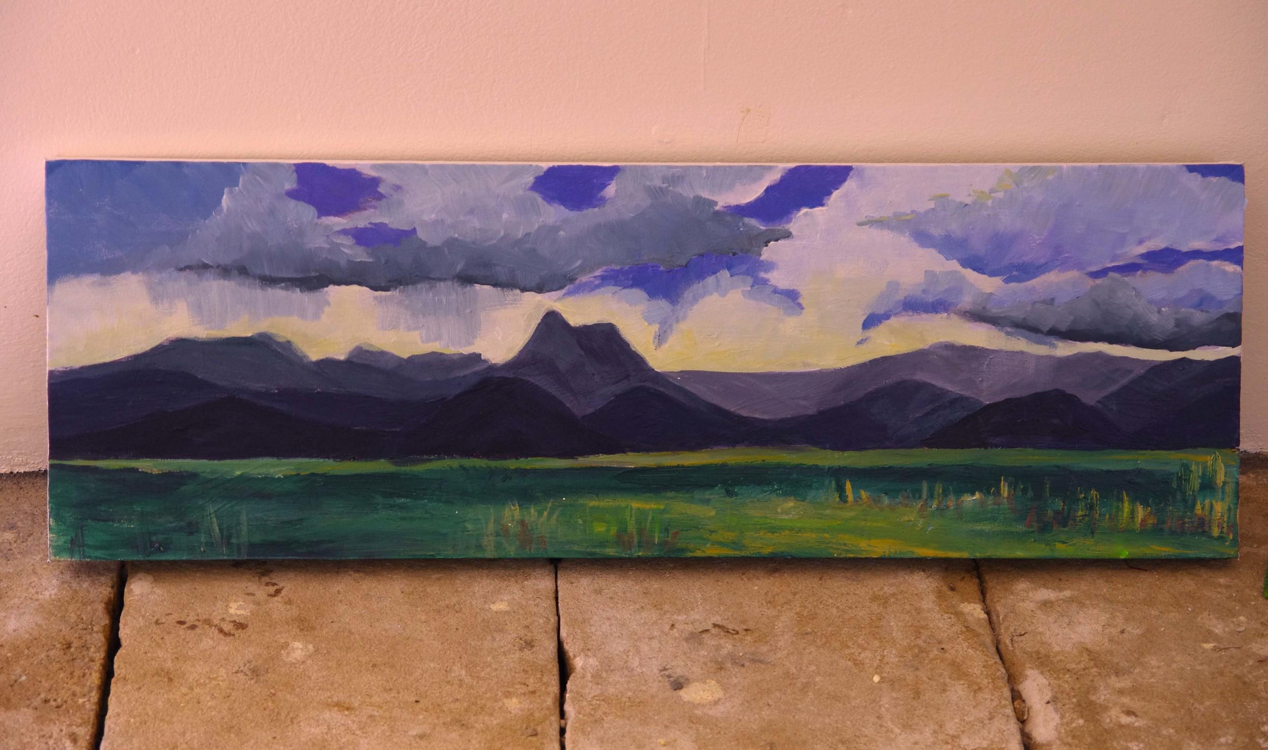 Tweed Valley view - in progress