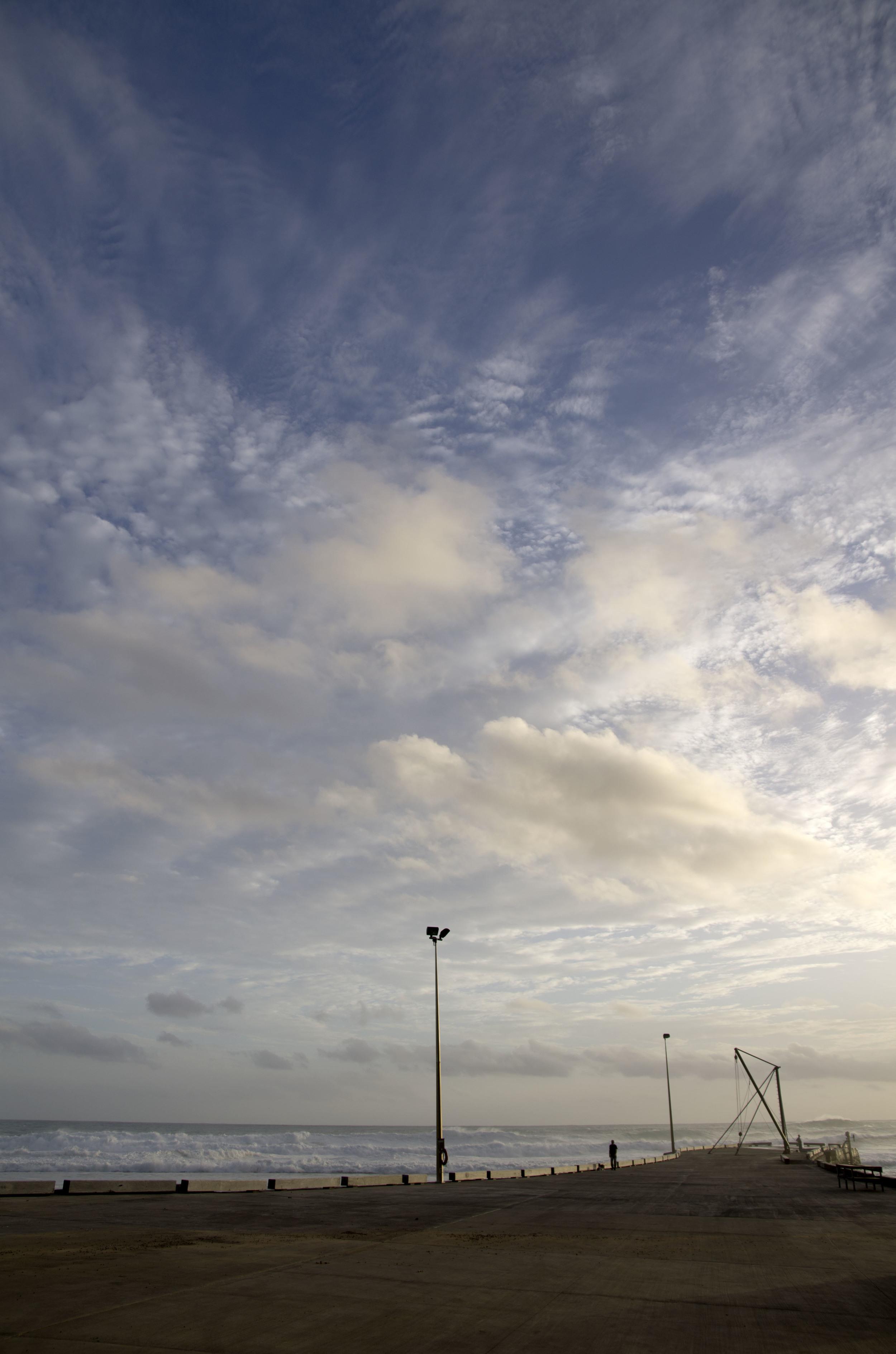Blue sky jetty