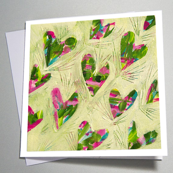 Leafy Heart Valentines Card