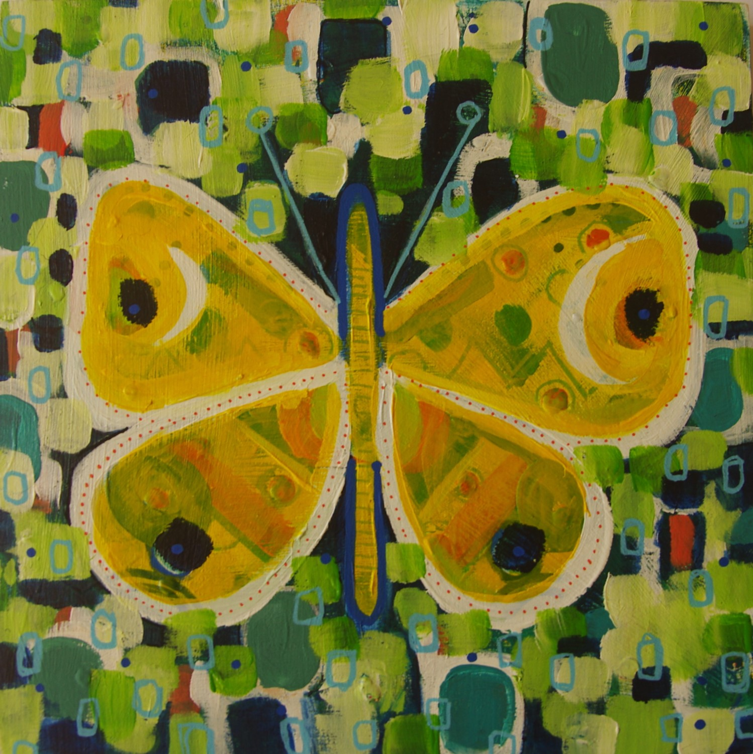 'Papillion' , is one of many small butterfly paintings I have been working on. After a visit to the Australian Musuem and spending time looking at the old 'butterfly' drawers and thoughts of colonial times and exploration, these butterflies are at the tip of my brush.